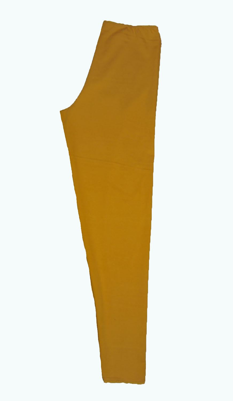 823d0e2ac3a3af oker-gele legging- Elizz, op maat gemaakte leggings maat 36 t/m 56