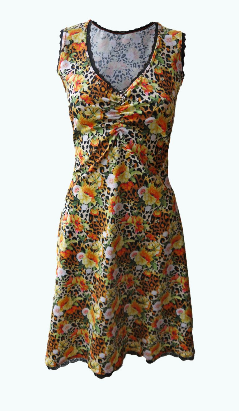 jurk met panterprint, Elizz