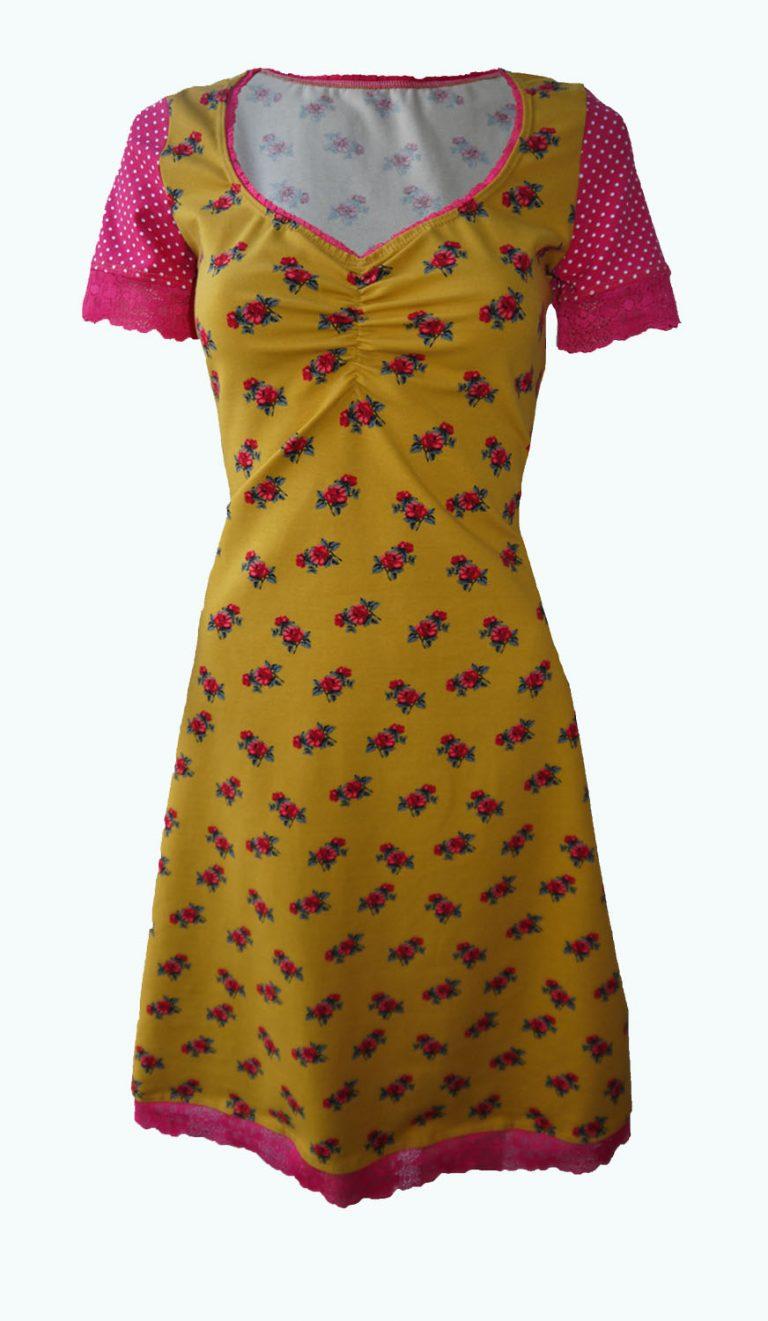 okergele jurk, Elizz