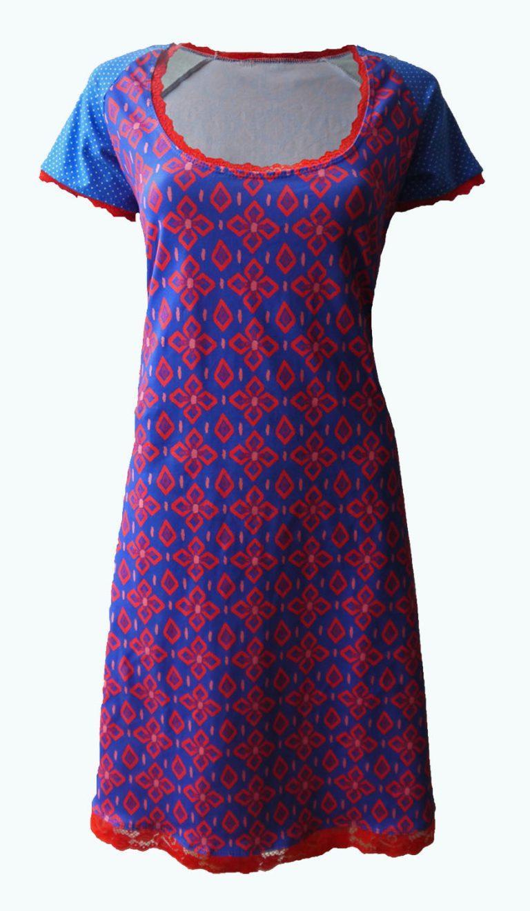 koningsblauwe jurk, Elizz