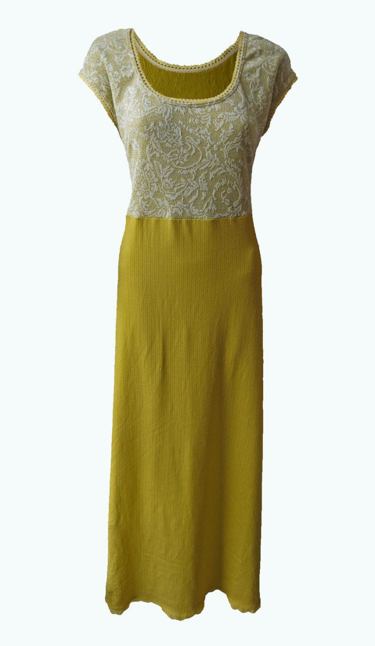 maxi jurk, okergeel, Elizz
