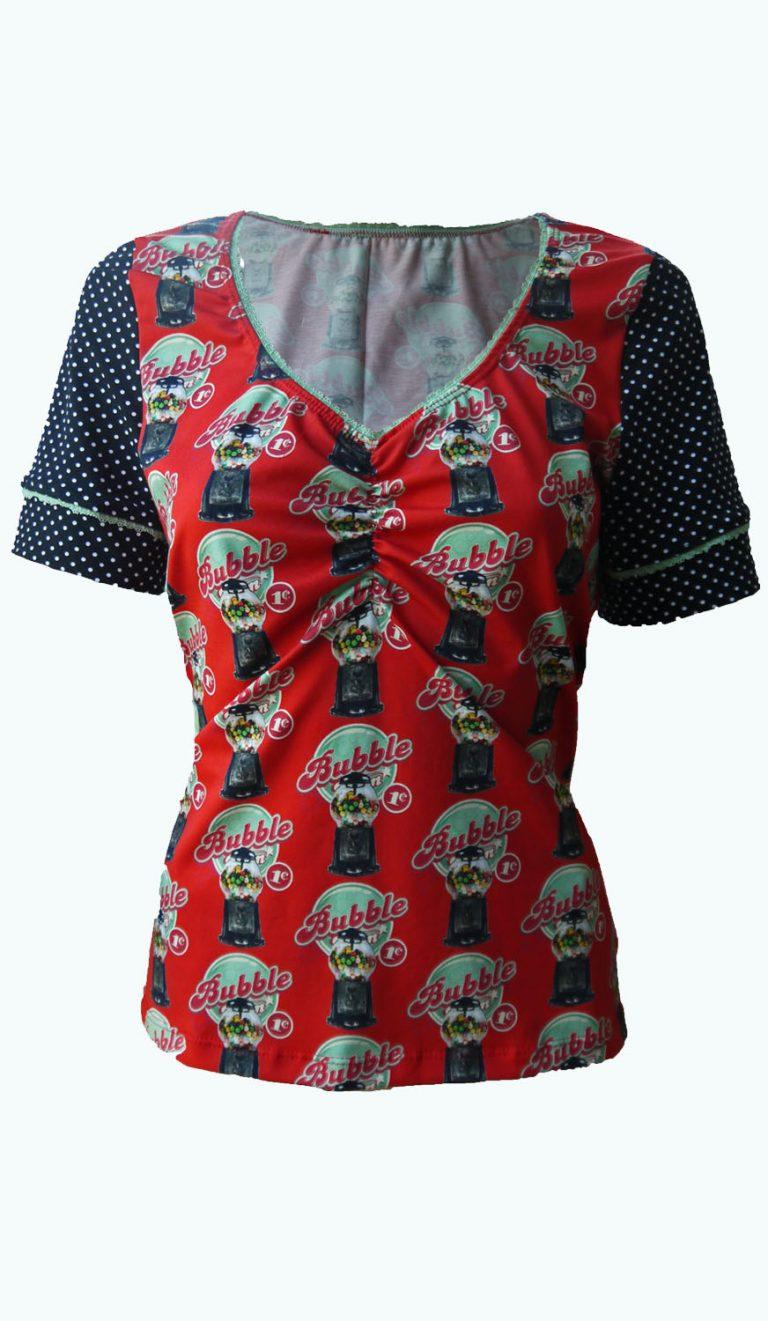 rood damesshirt, Elizz
