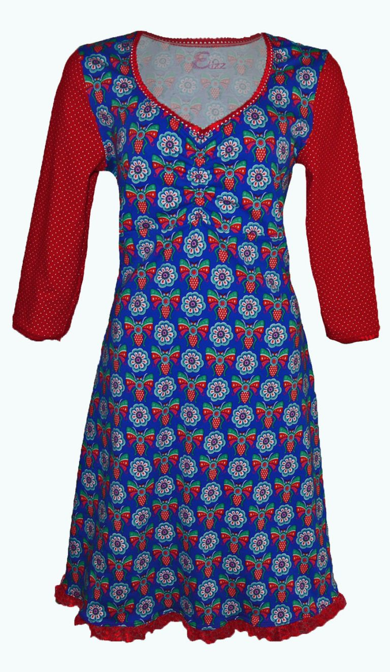 Crush, kobaltblauwe jurk, Elizz