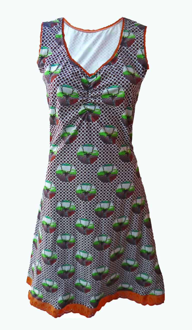retro mouwloos jurkje, Elizz