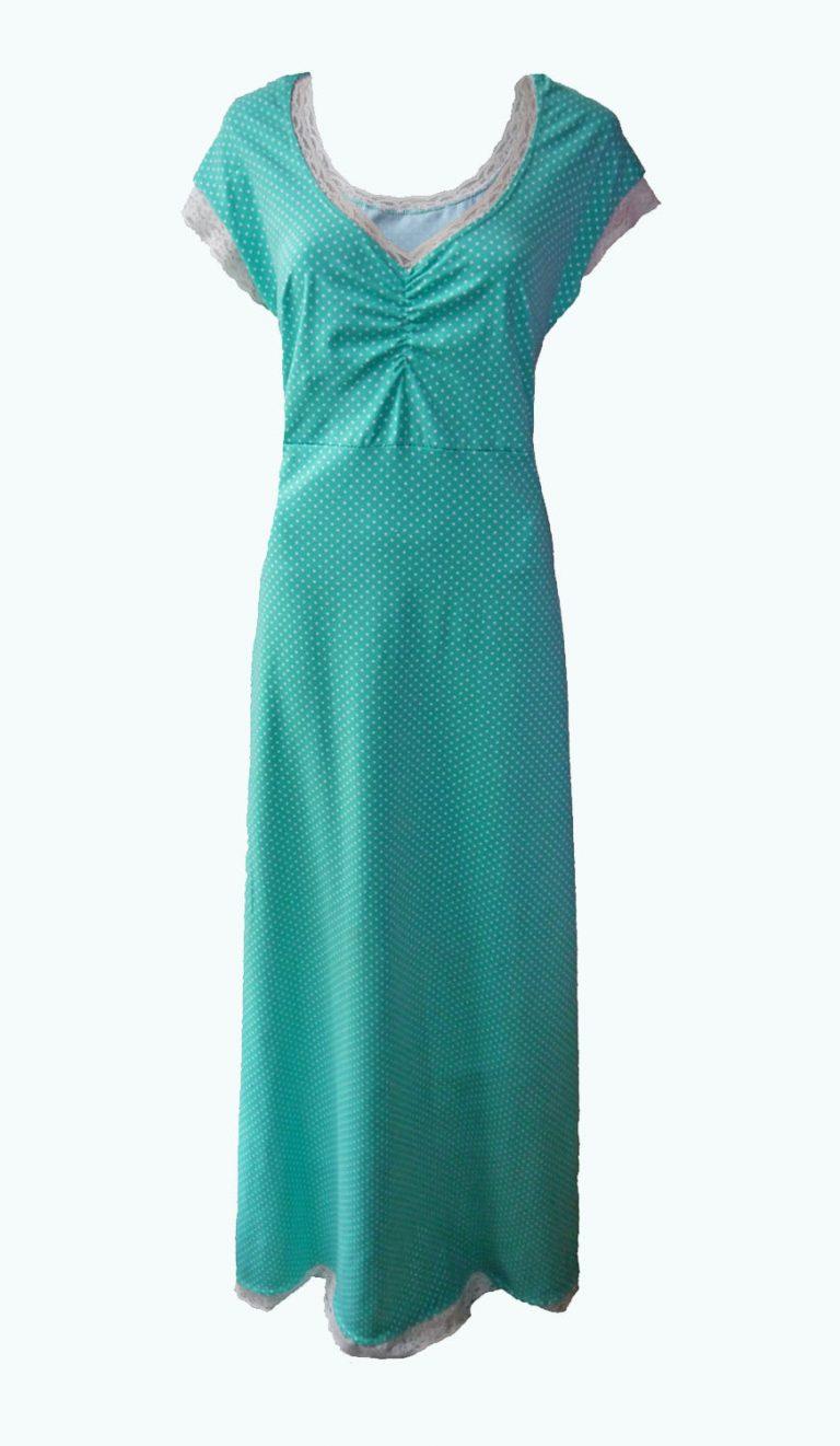 mintgroene maxi-jurk, Elizz