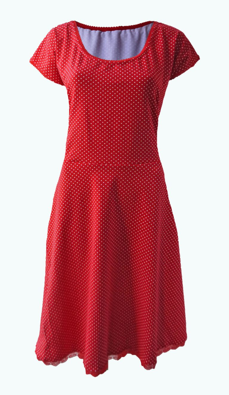 rode jurk met stippen, Elizz