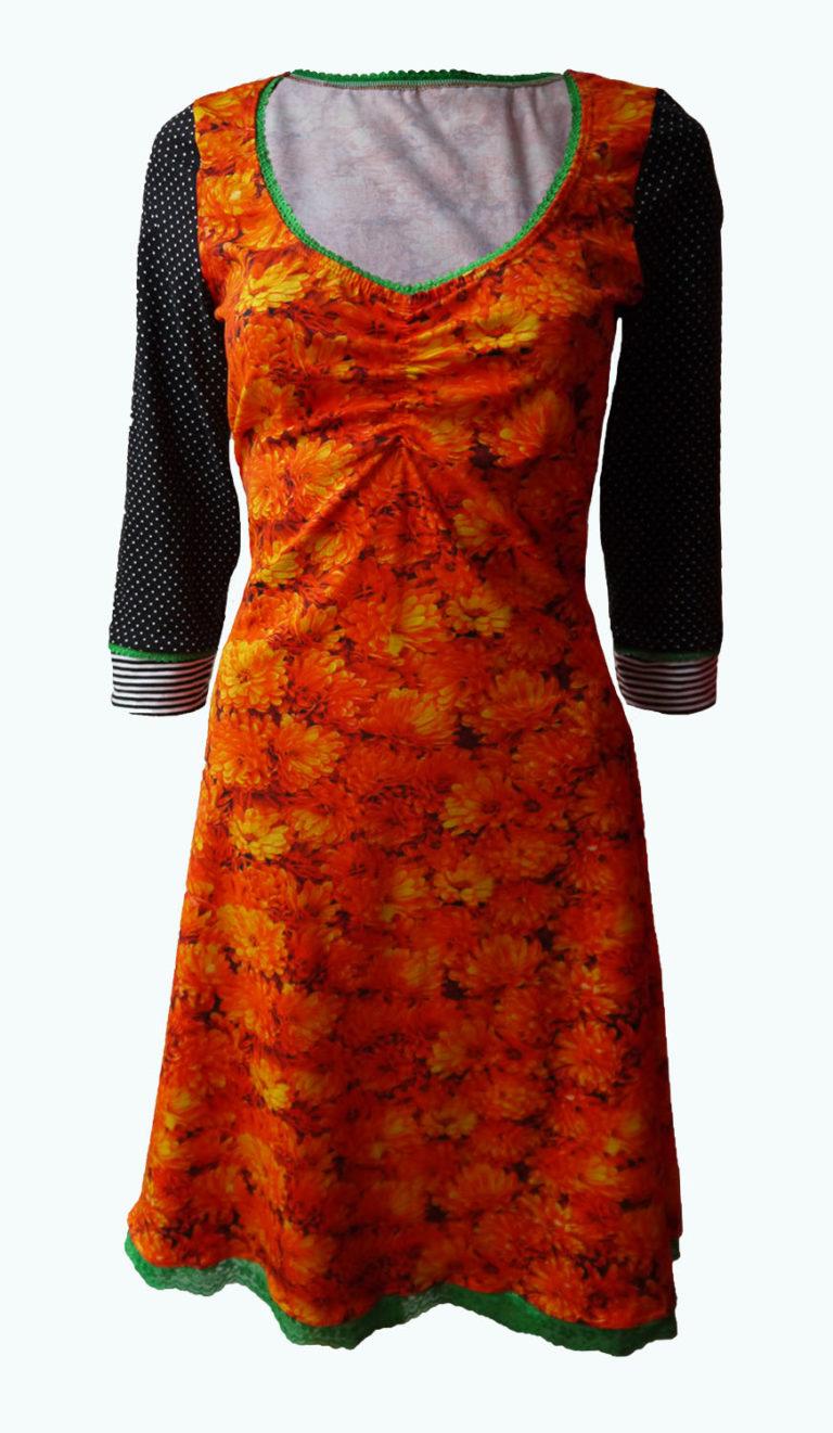 oranje jurk, Elizz