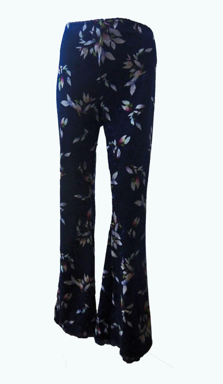 donkerblauwe broek met wijde pijpen, Elizz