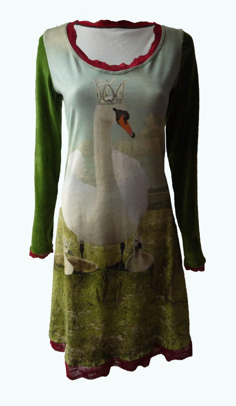 jurk met zwanen, Elizz