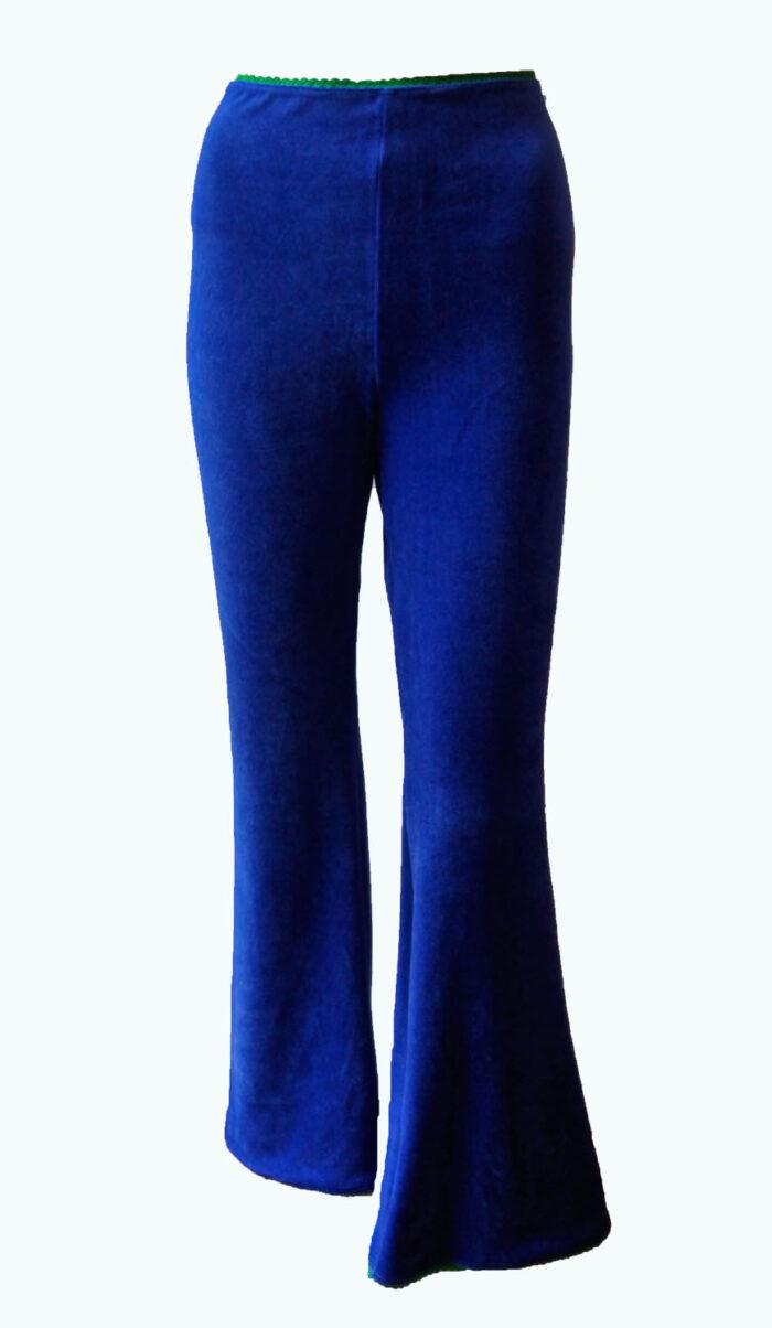 kobaltblauwe broek met wijde pijpen, Elizz