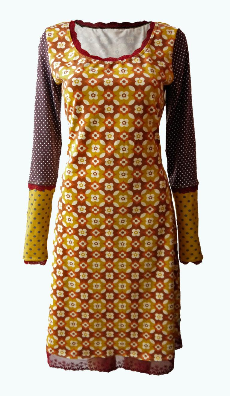 retor jurk, jurk met retro print, Elizz