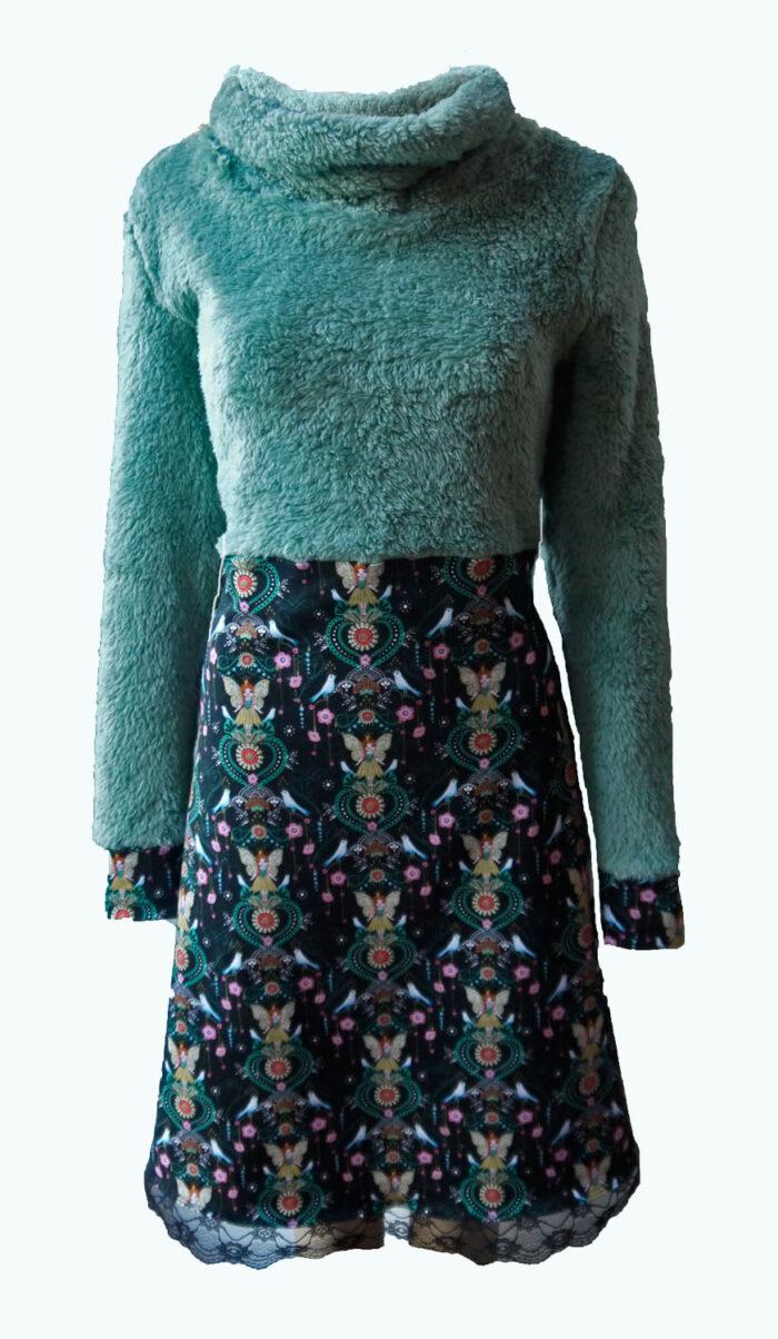 warme jurk, teddystof, Elizz