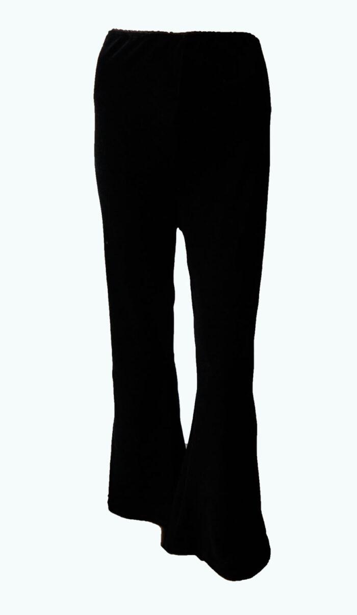zwarte velours flaired broek, Elizz