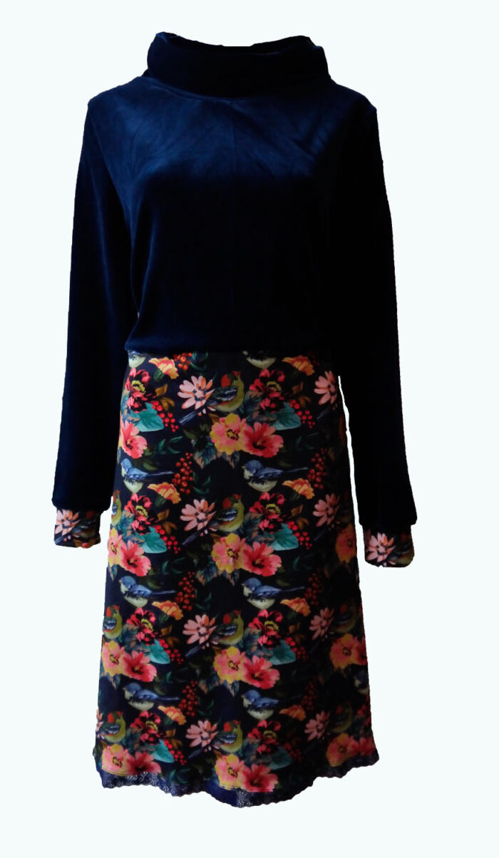 donkerblauwe jurk, Elizz