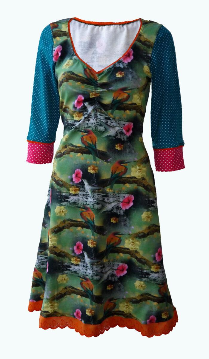 create, jurk met ijsvogels, Elizz