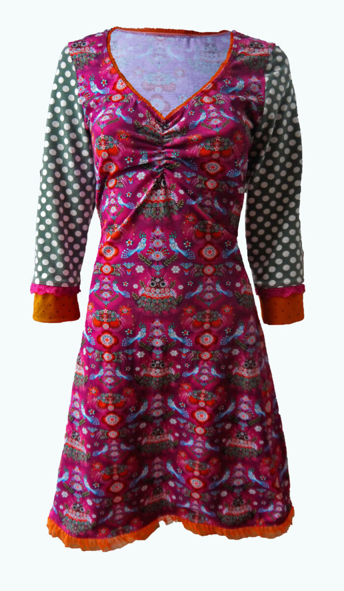 Desire, framboos roze jurk, Elizz