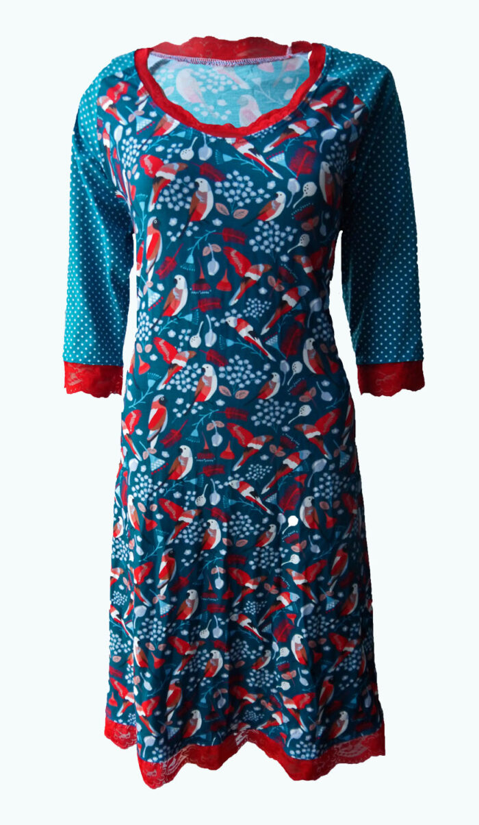 Tressure, petrol kleruige jurk, Elizz