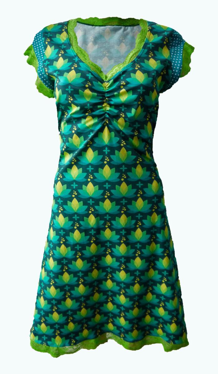 Elizz, Lotus, donkerblauwe jurk