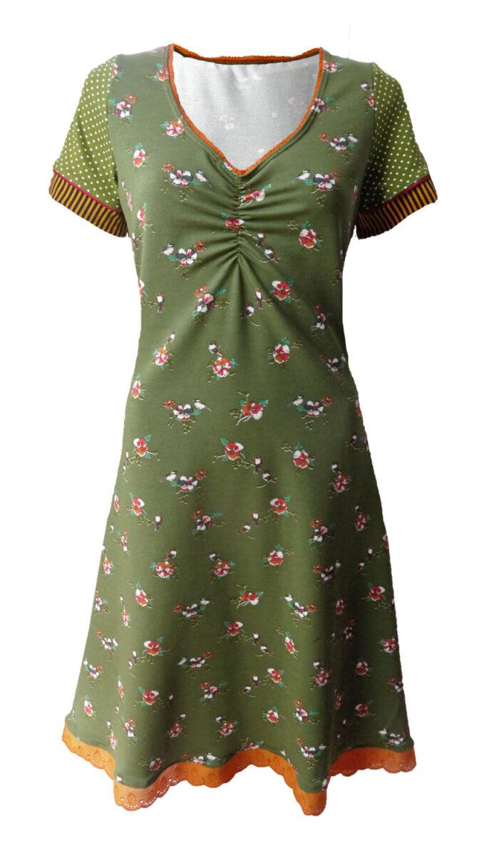 Daring, Elizz, olijfgroen jurk